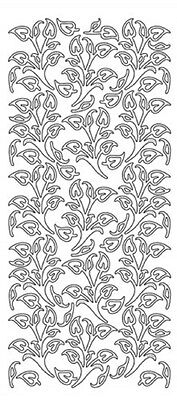 Deco Leaves Peel Off Stickers Card Making Scrapbooking Gold
