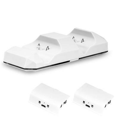 MoKo Dual Controller Quick Charge Dock Station 1200mAh Battery Pack for Xbox One