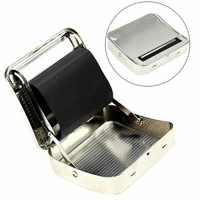 70mm Metal Automatic Cigarette Tobacco Smoking Rolling Machine Roller Box New