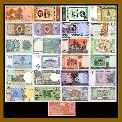 Foreign Banknotes Currency Lot 15 Pcs of Different World Mix Mixed Cir