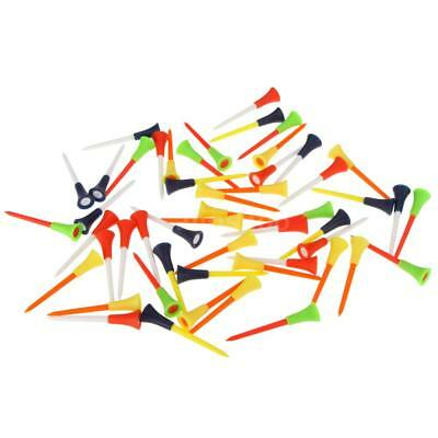 50pcs 83mm Multi Color Plastic Golf Tees Rubber Cushion Top For Golf Lovers H8O5