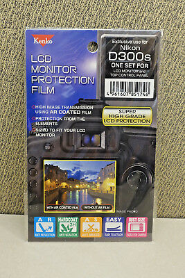 Kenko LCD screen protection film for Nikon D300s * NEW *