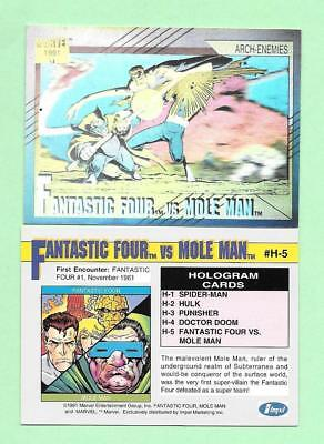 Marvel Universe 2  Hologram Card (H-5) (FF vs Mole Man)