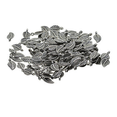 100x Mini Charms Leaf Pendents Jewelry Findings DIY Bracelet Necklace Choker