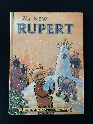 "Vintage Original ""The New Rupert"" Annual 1954"
