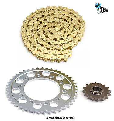 Gold Chain and Sprocket Kit Suzuki LT50 quad 84-2000