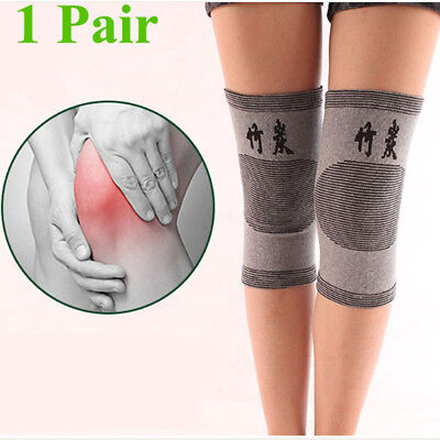 Pair Knee Sleeve Compression Brace Support For Sport Joint Pain Arthritis Relief
