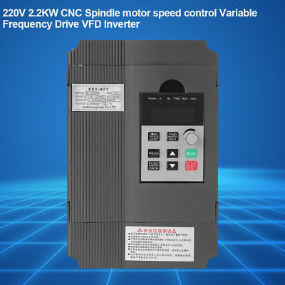 220V 2.2kW Variable Frequency Drive VFD Speed Controller Single phase AC Motor