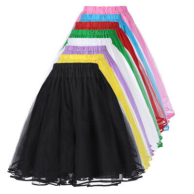 Women's 3-Layer Tulle Netting Skirt Ladies Petticoat Retro Fancy Skirt Slips