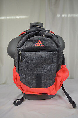 f0135a541d9a NEW Adidas Foundation III Laptop Backpack Jersey Onix   Lucid Red  Onix