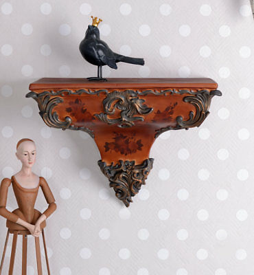 Wall console baroque style console wall shelf rococo shelf decoration hanging