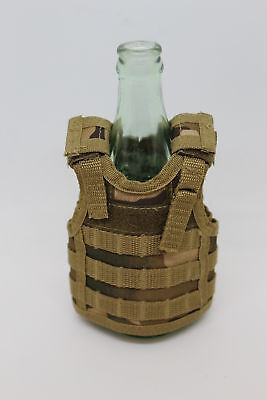Military Tactical Mini Vest Soda Beer Bottle Coozie Coolie Koozie - Multicam/OCP