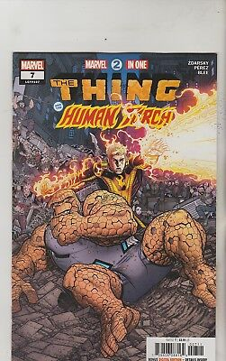 Marvel Comics Marvel 2 In One #7 August 2018 Thing & Human Torch 1St Print Nm