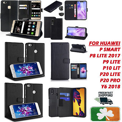 Brand New Top Quality PU Leather wallet Case Cover For Huawei P8,9,10,20 Psmart