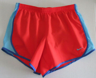 d7e9070aa517 NWT NIKE DRI Fit Girls' Dry Tempo Running Shorts Red/Blue Size L ...