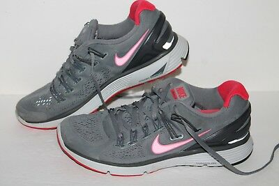 new style 6142e db2dd NIKE LUNAR ECLIPSE 3 + Running Shoes, #555398-060, Grey/Red/Black ...