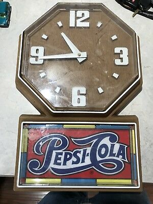 Vintage Pepsi Cola Wall Clock Works