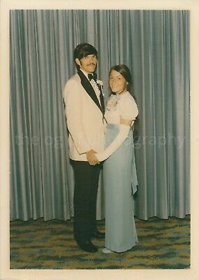 60's 70's Prom Kids 5 x 7 FOUND PHOTO Color FREE SHIPPING Vintage GIRL Boy 83 18