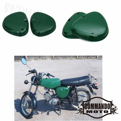 1 Pair Motorcycle Steel Side Covers Box Intake Lid For Simson S51 S50 S70 Green