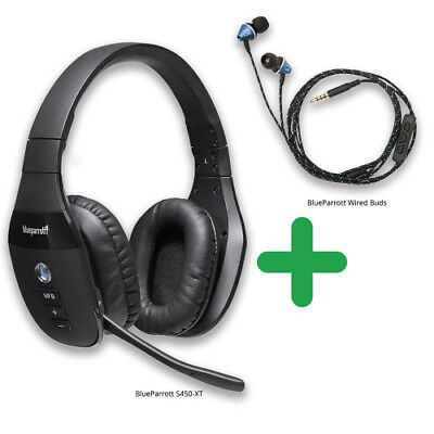 8973b54b379 BlueParrott S450-XT with Wired Ear Buds Advance Noise-Canceling Microphone