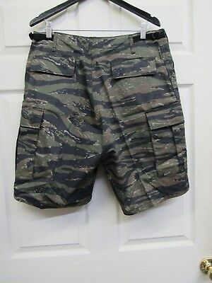 New Tiger Stripe Camo BDU Combat Cargo Shorts Button Fly Rothco Camouflage