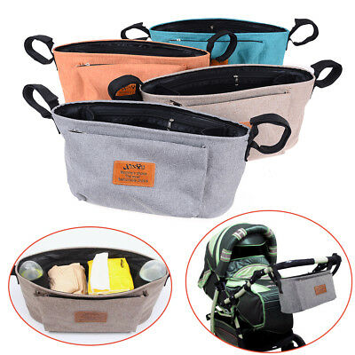 Useful Baby Stroller Pushchair Travel Organizer Storage Bag Bottle'Diaper Holder