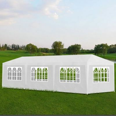 10'x30' White Outdoor Gazebo Canopy Wedding Party Outdoor Tent 8 Removable Walls