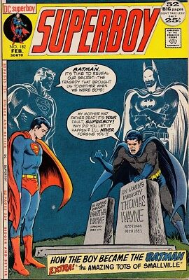 "Superboy 182 ""How The Boy Became The Batman"" F/VF $20"