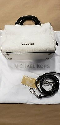 931f487137c837 Michael Kors Michael Extra Small Kirby CROSSBODY White/Black Satchel
