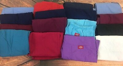 Lot of 16 Size Small Hospital Scrubs 12 Bottoms 4 Tops Multiple Solid Colors