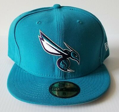 official photos 559e4 8ef63 ... 9fifty snapback cap 47bff b9640  authentic new era charlotte hornets  teal blue 59fifty flat bill 5950 fitted cap nba hat 13f87