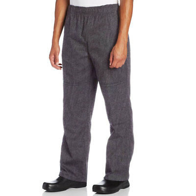 "Chef Code Men's Double Knee Baggy Chef Pant with 2"" Elastic Waistband CC228"
