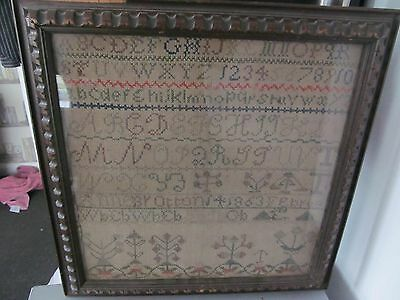 Antique framed sampler 1863