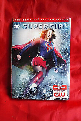 Brand New/factory Sealed 5 Dvd Set! Dc's Supergirl Complete 2Nd Second Season!