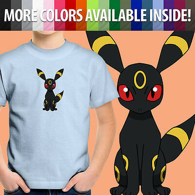 c9a568cb Umbreon Eevee Graphics Cartoon Video Game Unisex Kids Boy Girl Tee Youth T -Shirt