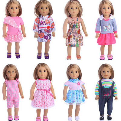 Doll Dress Clothes Set For 18 Inch American Girl 43cm    Doll Gift