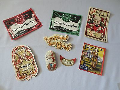 100 + VINTAGE EUROPEAN APERITIF, WINE & SPIRIT BOTTLE LABELS Early 1900's