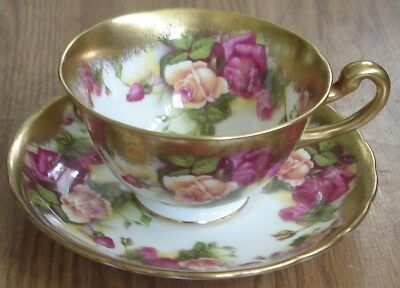 Royal Chelsea Golden Rose Cup & Saucer