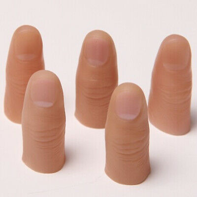 3Pcs Rubber Thumb Tip Close Up Trick for Vanishing Appearing Real Finger Trick