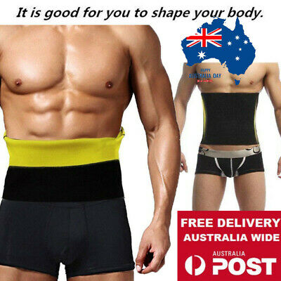 Men Tummy Belly Stomach Cincher Girdle Body Waist Shaper Slimming Belt Abdomen&