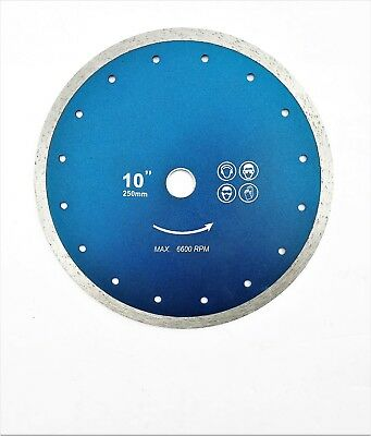 """10"""" (250mm) Continuous Diamond Cutting Disc. Wet saw Blade continuous"""