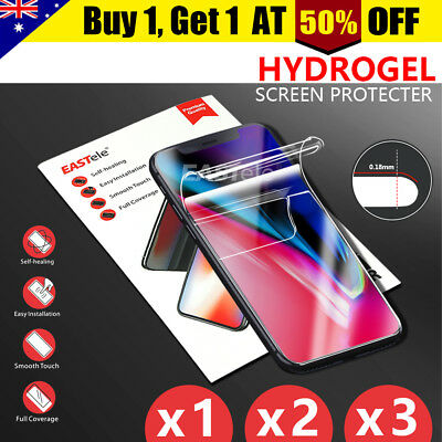 HYDROGEL AQUA Screen Protector Apple iPhone XS Max XR X 8 Samsung S9 S8 Note 9