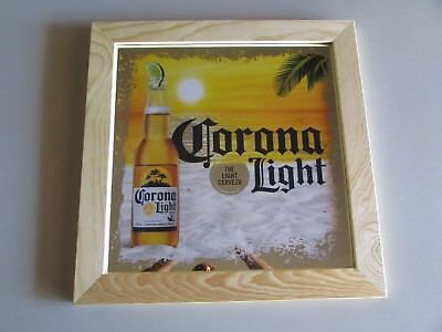 NEW Corona Light Cerveza Mexico Beach Beer Mirror Ocean Bar Sign Extra Lime Sand