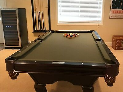 FT Ft Shadow Pool Table By IMPERIAL Black Finish Billiard - Brunswick 7 foot pool table