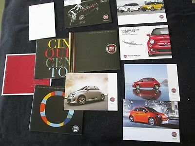 2012-2018 Fiat Brochure & Card Collection 500 Abarth Sport Cabrio 500L 500e 124