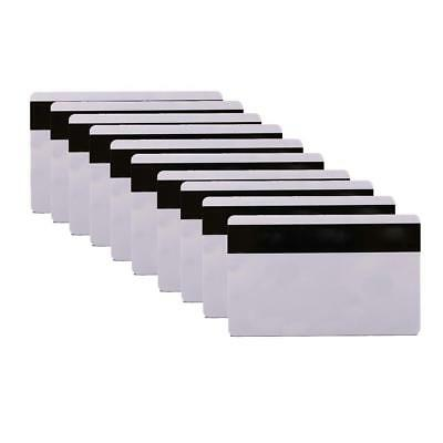 10pcs PVC PLASTIC BLANK WHITE CREDIT CARD 30 MIL With Loco Magnetic_Stripe