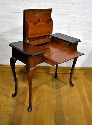 Antique vintage console writing desk with a fitted interior