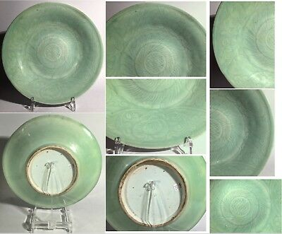 A Chinese Green Celadon Porcelain Plate Qing dynasty China CINA