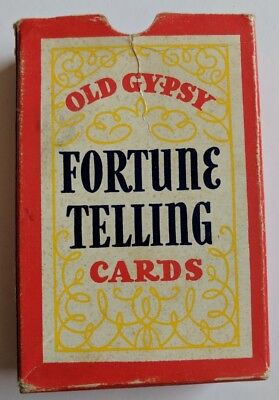 Vintage Whitman Old Gypsy Fortune Telling Cards Game 201 6-Card Deck 1940