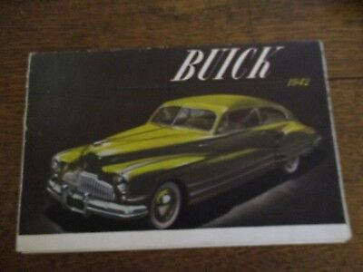 Vintage 1942 Buick Sales Brochure, Large Fold Out, Full Color. Very Good